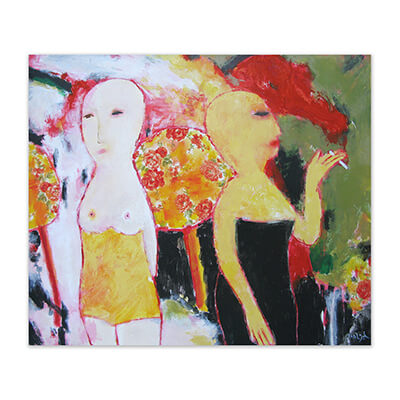 Fumata rossa - Painting by Jose Antonio Diazdel
