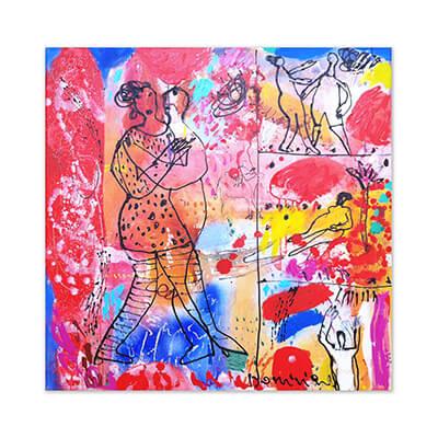 La dernière danse - painting by Dominique Chan
