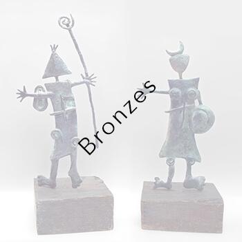 Bronzes by Ángeles Nieto AquArtisGallery Amsterdam