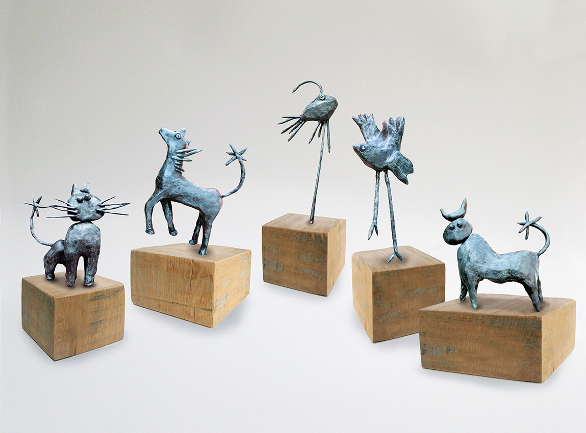 bronzes by Angeles Nieto