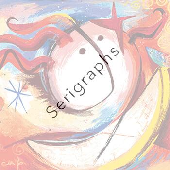 Serigraphs by Ángeles Nieto AquArtisGallery Amsterdam
