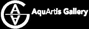 Logo AquArtisGallery Amsterdam wit
