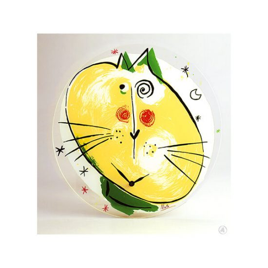 Serigraph El Gato the cat, the clock