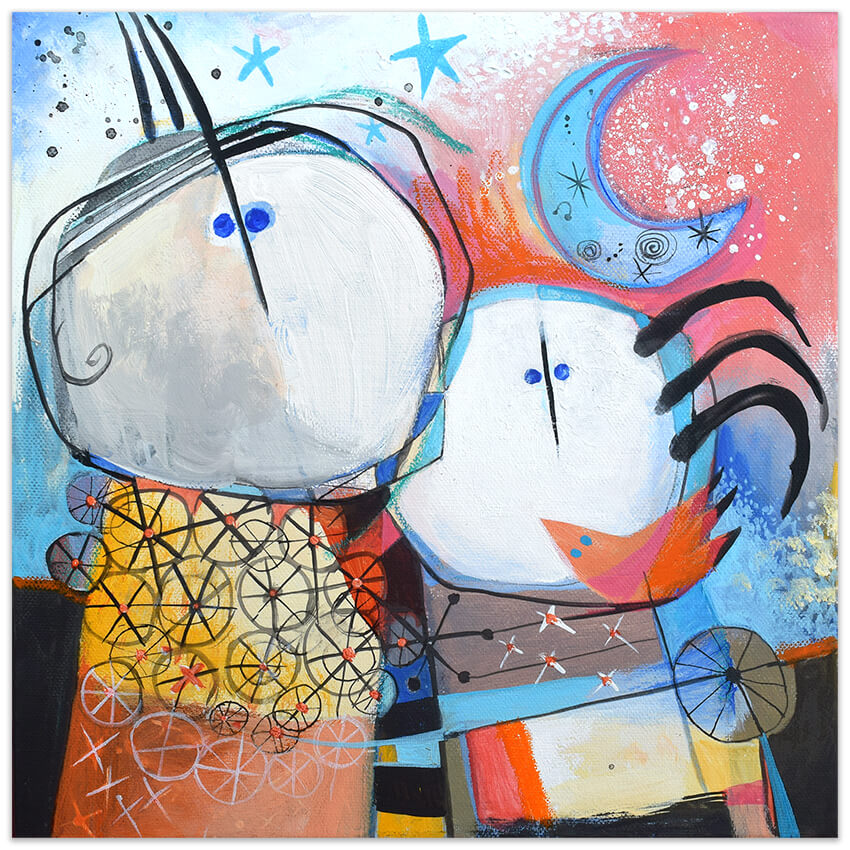 Original painting Feeling good art collection by Angeles Nieto