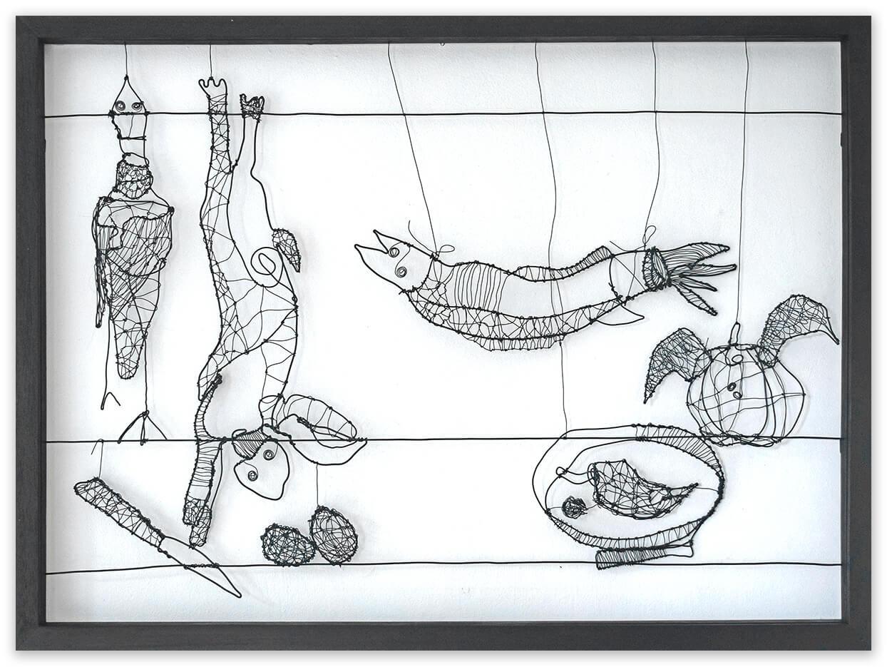 Naturaleza muerta - Unique Wire - art - food - by Angeles Nieto