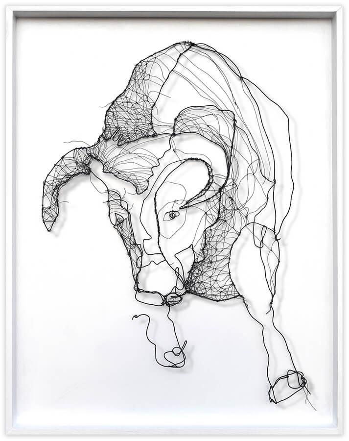 Galope de toro - original art by Angeles Nieto