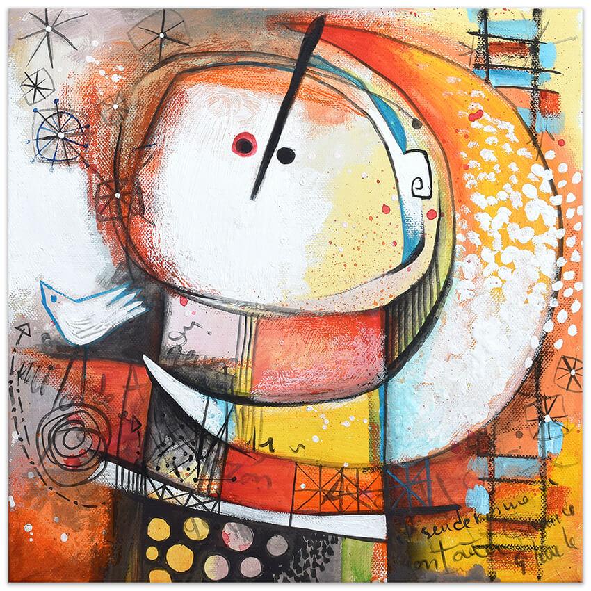 Feeling good art collection - dentro la luna - by Angeles Nieto