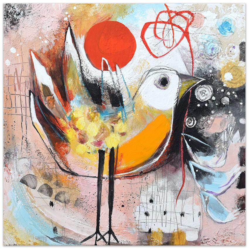 Feeling good art collection - el hilo rojo invisible - by Angeles Nieto