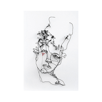 Colmena - Original wire sculpture, 40 x 25 cm by Angeles Nieto, original art